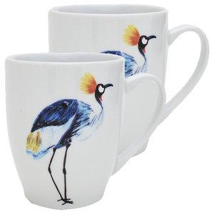 Crane Mugs, Set of 2