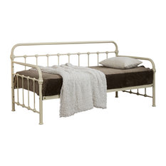 Mandy Hospital Style Single Metal Day Bed, Cream
