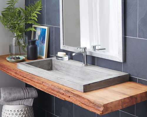 Concrete Bathroom Sink Houzz