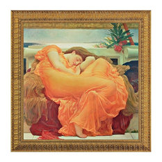Flaming June, 1895: Canvas Replica Framed Painting, Small
