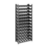 Modern Stackable Modular Wine Rack, Plastic, Perfect for Placing 72-Bottle