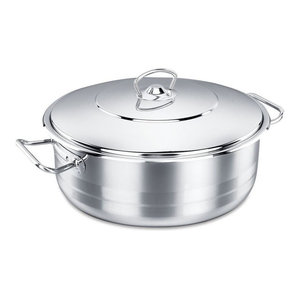 Korkmaz Stainless Steel Dutch Oven With Lid, 16 Quart