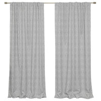 Diamond Confetti Blackout Curtains, Gray