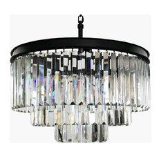 Lumos 6-Light Luxury Modern Contemporary Crystal Chandelier Ceiling Light
