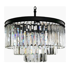 Lumos 6-Light Luxury Modern Contemporary Crystal Chandelier Ceiling Light