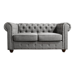 Groovy Gracia Chesterfield Love Seat Traditional Loveseats By Machost Co Dining Chair Design Ideas Machostcouk