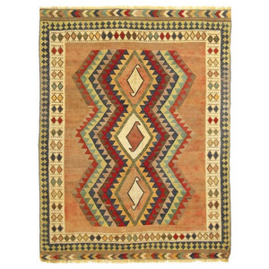 Kelim Fars Old Style Rug, Persian Carpet, Hand-Woven, 249x185 cm