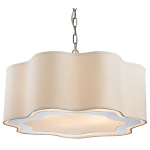"Elk Home 1140-019 Villoy 6 Light 24"" Wide Drum Chandelier"