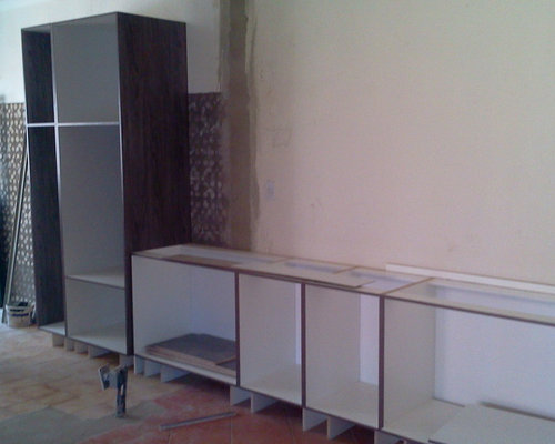 Kitchen cupboards - chipboard melamine