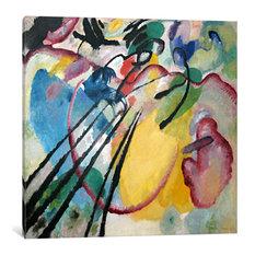 """Improvisation 26, Rowing"" Wrapped Canvas Print, 12x12x1.5"
