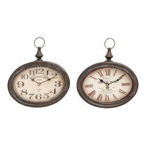 Lodge Metal Wall Clocks, Set of 2