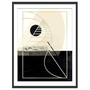 """""""Before Sundown"""" Abstract Art Print, Black Framed, 30x40 cm"""