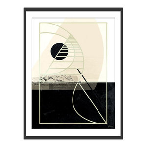 """Before Sundown"" Abstract Art Print, Black Framed, 30x40 cm"