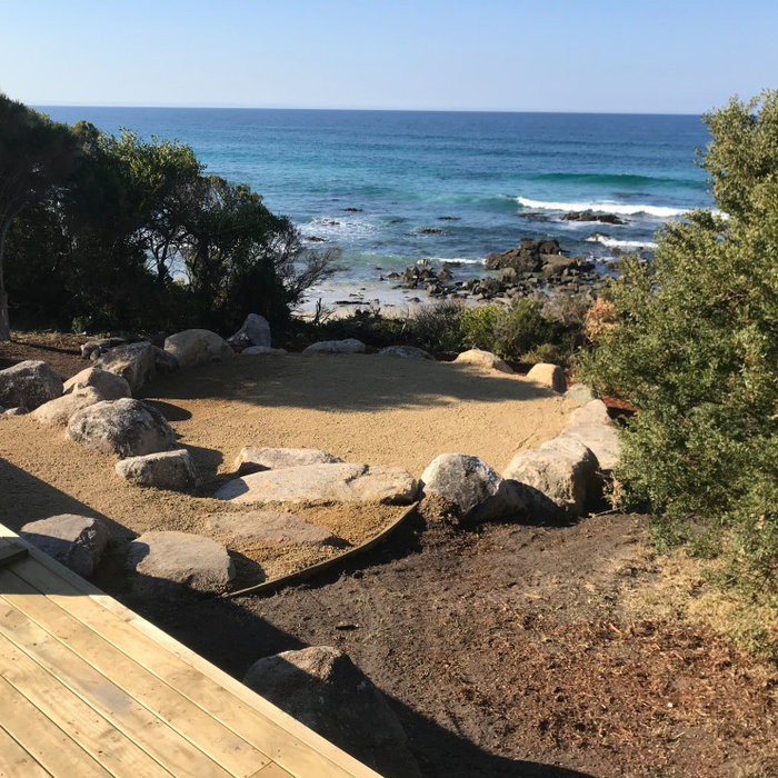 Fire Pit and Landscaping - Falmouth