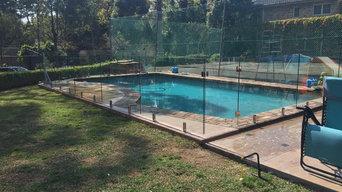 Frameless glass pool fence installed at  st Ives