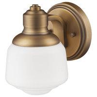 Millennium Lighting Sconce, Heirloom Bronze, Opal White