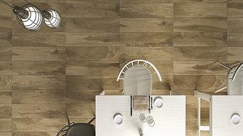 pavimento finto legno in gres porcellanato rettificato