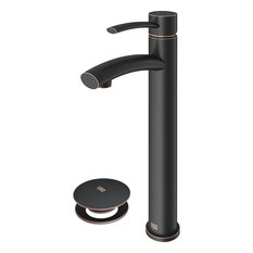 VIGO Milo Bathroom Vessel Faucet, Antique Rubbed Bronze