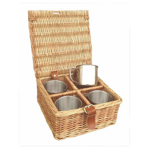 Tea Coffee Drinks Basket, 4 Bottle