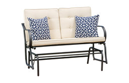 Orik Rocking Bench With Cushions, Beige
