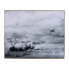 Foggy Art Print in White And Black
