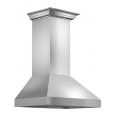 ZLINE Wall Mount Range Hood in Stainless Steel with Crown Molding (597CRN), 60""
