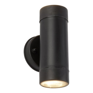 Outdoor Double Cylinder Wall Light Black