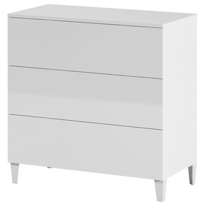 Loft Chest of Drawers, White, 3 Drawers