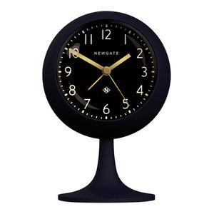 Newgate Dome Petrol Blue Alarm Clock, Black