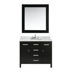 "London 42"" Single Sink Vanity Set in Espresso Finish"