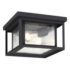 Hunnington 2 Light Outdoor Ceiling Light in Black