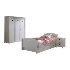 VIPACK - Amori 4-Piece Bedroom Set - Children's Bedroom Furniture Sets