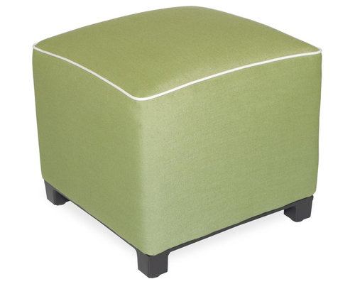 """Upholstered Pouf 18""""x18""""x18"""" - Spectrum Cilantro - Products"""