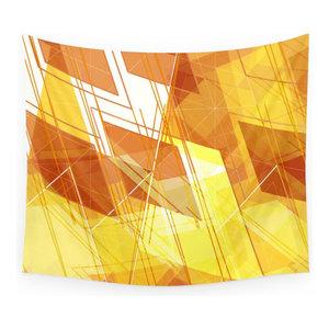 51 X 60 Kess InHouse EBI Emporium The Flock Yellow Red Wall Tapestry