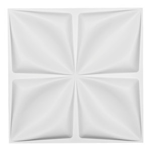 "19 5/8""W x 19 5/8""H Riley EnduraWall Decorative 3D Wall Panel, White"