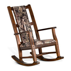 Sunny Designs, Inc.   Sunny Designs Rocker With Mossy Oak Fabric , Santa Fe