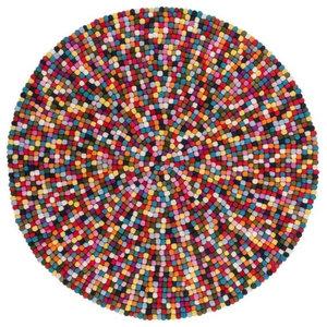 Love Pebble Rug, Multi Colour, 120 cm Round