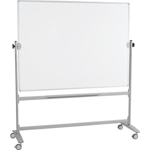 "Best-Rite Mobile Reversible Whiteboard, White/Silver, 30""x40"""