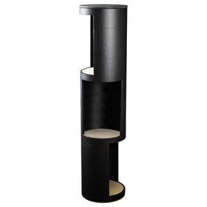 Tall Tower Display Shelf, Black