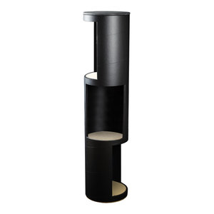Tall Tower Display Shelf, Black