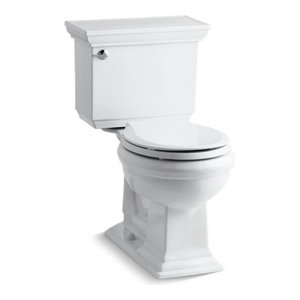 Memoirs Stately Comfort Height 2-Piece Round-Front 1.28 GPF Toilet, White