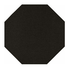 Indoor Outdoor Carpet, Black, 12' Octagon