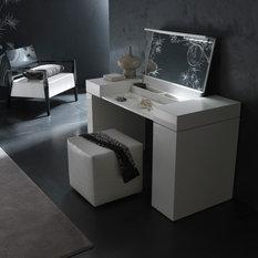 white modern makeup vanity. Nightfly Dressing Table in white  Bedroom Makeup Vanities Modern and Houzz