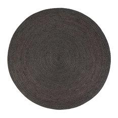 Mod Kalkar Jute Area Rug Gray 4 Round Rugs