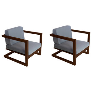 Outdoor Alhama Chairs, Set of 2, Bronze