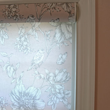 Custom Roller Shades in a Laundry Room