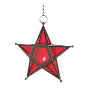 Glass Star Lantern, Red
