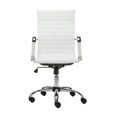 High Back Swivel Adjustable Office Executive Chair, Swivel, White