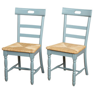 Briana Dining Chair, Set of 2, Antique Blue
