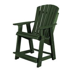Heritage High Adirondack Chair, Turf Green